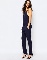 BA&SH Farro Strap Jumpsuit in Marine Blue