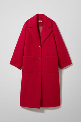 Weekday Mario Coat - Red
