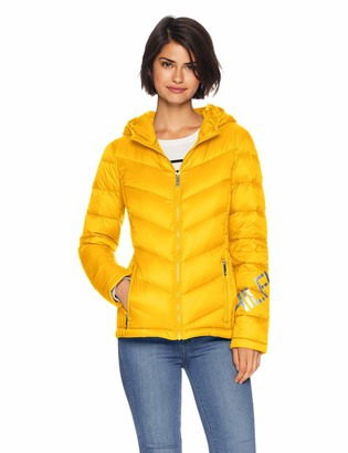 Tommy Hilfiger Women's LOGO QUILTED HOODED PACKABLE PUFFER JACKET