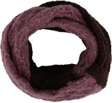Simplicity Infinity Scarf with Contrast Color, Wool & Acrylic, Purple/Coffee