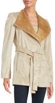 Calvin Klein Oversized Collar Belted Coat