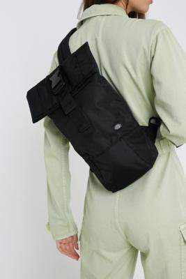 Dickies Woodlake One-Shoulder Backpack - black at Urban Outfitters