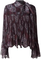 See by Chloe paisley print scalloped blouse