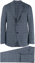 Lardini two-piece check suit - men - Cotton/Polyester/Viscose/Wool - 52