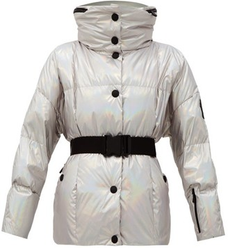 MONCLER GRENOBLE Ollignan Belted Iridescent Quilted-down Jacket - Silver