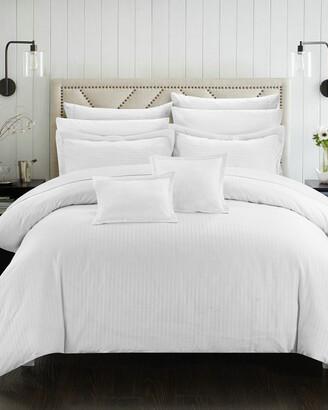 Chic Home Kanya Jacquard Striped Comforter Set