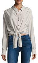 Splendid Striped Boyfriend Button-Down Shirt