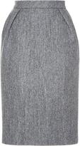 Dice Kayek Knee Length Wool Pencil Skirt
