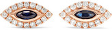 Anita Ko Evil Eye 18-karat Rose Gold, Diamond And Sapphire Earrings - one size