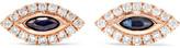 Anita Ko Evil Eye 18-karat Rose Gold, Diamond And Sapphire Earrings