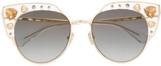 Jimmy Choo Eyewear Audrey embellished sunglasses