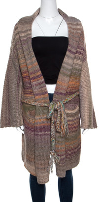 Zadig and Voltaire Multicolor Chunky Knit Belted Mia Cardigan XS/S