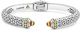Lagos 18K Gold and Sterling Silver Caviar Color Citrine Cuff, 8mm