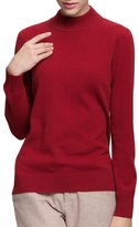 Spring Air SpringAir Women's 100% Pure Cashmere Classic Long Sleeve Mock Turtleneck Sweater