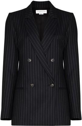 Victoria Beckham Pinstripe Pattern Double-Breasted Blazer Jacket