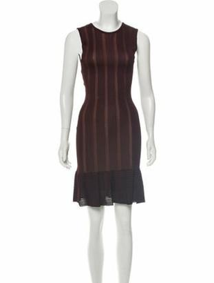Alaia Rib Knit Bodycon Dress