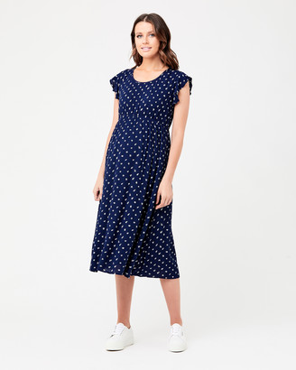 Ripe Maternity Bobbie Shirred Dress