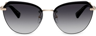 Bvlgari Oversized Cat-Eye Tinted Sunglasses