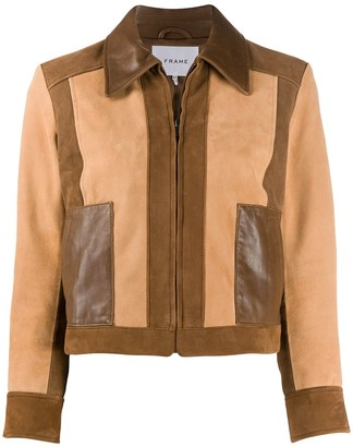 Frame Leather Patchwork Jacket