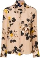 Rochas rose printed blouse