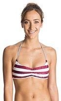 Roxy Women's Reversible Halter Tri Liberty Bikini Top