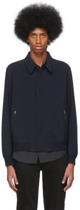 Paul Smith Navy Laser-Cut Jacket