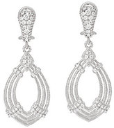 Judith Ripka Sterling 1.00 cttw Diamonique Drop Earrings