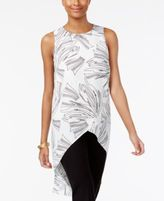 Alfani Printed Crossover High-Low Top, Created for Macy's