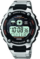 Casio Men's AE2000WD-1AV Silver Stainless-Steel Quartz Watch with Digital Dial