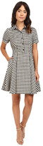 Christin Michaels Allesia Plaid Button Up Dress