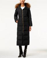Calvin Klein Petite Faux-Fur-Trim Hooded Maxi Down Puffer Coat