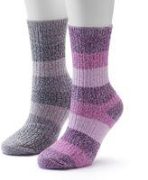 Columbia Women's 2-pk. Marled Stripe Crew Socks
