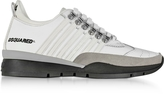 DSQUARED2 251 White Leather Men's Sneakers