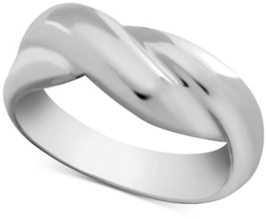 Essentials Sculpted Overlap Ring in Fine Silver-Plate
