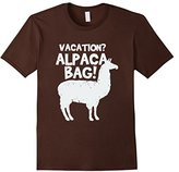 Women's Funny Done Right: Vacation? I'll Pack Alpaca Bag Large