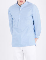 Sandro Pearlescent-button cotton shirt
