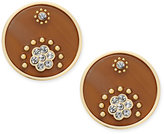 Kate Spade Out Of Her Shell Gold-Tone Tortoiseshell-Look Disc Earrings