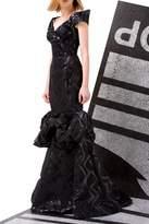 John Paul Ataker Off Shoulder Black Gown