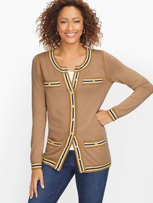 Talbots Supersoft Tipped Cardigan