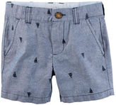 Carter's Embroidered Flat-Front Twill Shorts