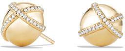 David Yurman 10mm Solari Stud Earrings with Pave Diamonds