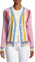 Diane von Furstenberg Long-Sleeve Colorblock Cardigan
