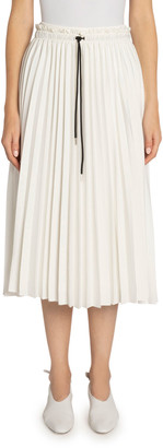 Proenza Schouler White Label Pleated Georgette Drawstring Midi Skirt