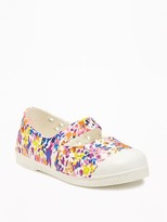 Old Navy Perforated Floral-Print Slip-Ons for Toddler Girls