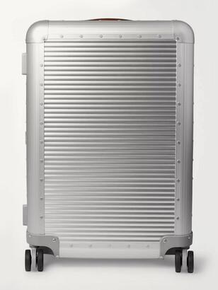 FPM Milano Spinner 68cm Leather-Trimmed Aluminium Suitcase - Men - Silver