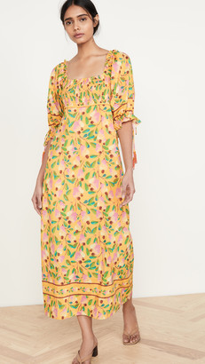 Farm Rio Mini Cashew Maxi Dress