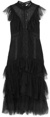 Jonathan Simkhai Tiered Ruffled Lace Dress