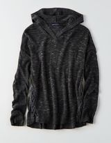 American Eagle Outfitters AE Side-Lace Hoodie Sweater