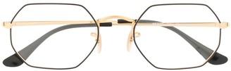 Ray-Ban Octangonal Optics logo glasses