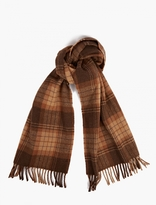 A.P.C. Brown Check Wool Scarf